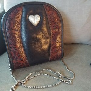 EUC Brighton Heart & Floral Tooled Leather Purse